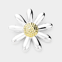 Embossed Flower Metal Pendant