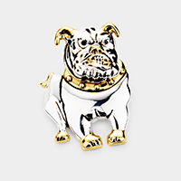 Bulldog Metal brooch / pendant