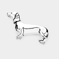 Dachshund Dog Metal Brooch / Pendant