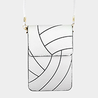 Volleyball Pattern Touch View Cell Phone Cross Bag