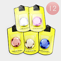12PCS - Glitter Printed Kickstand Phone Ring Holders