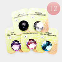 12PCS - Gem Cell Phone Ring Holders