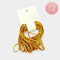 Gold Cord Stretch Hair Loops