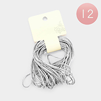 Silver Cord Stretch Hair Loops