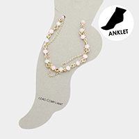 Bubble Bead Chain Layered Anklet