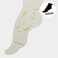 Multi Bead Chain Anklet
