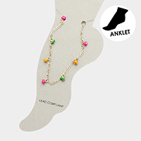 Bubble Bead Chain Anklet