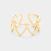 Cut Out Heart Open Ring