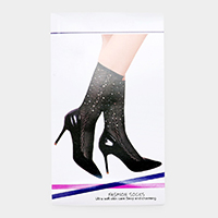 Crystal Embellished High Fashion Socks