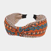 Tribal print Knotted Headband