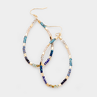 Mixed Bead Oval Earrings