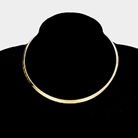 Omega Metal Open Choker Necklace