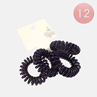 12 Set Of 4 - Stretchable Hair Coils Band