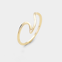 Brass Wave Metal Ring