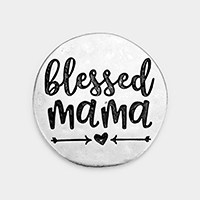 'Blessed Mama' Metal Self Adhesive Charm for Phone Holder