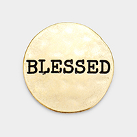 'Blessed' Metal Self Adhesive Charm for Phone Holder