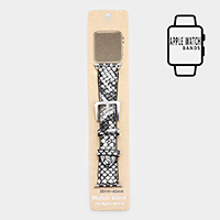 Snake Detail Faux Leather Apple Watch Stretch Strap Band