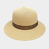 Greek Pattern Trim Paper Floppy Sun Hat