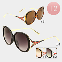 12PCS -Color block Oversized Sunglasses