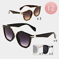 12PCS -Oversized Aviator Sunglasses