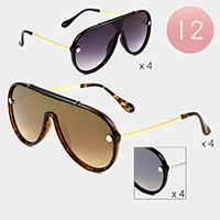 12PCS - Oversized Wayfarer Sunglasses