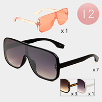 12PCS - Oversized Wayfarer Aviator Sunglasses