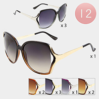 12PCS - Elegant Oversized Sunglasses