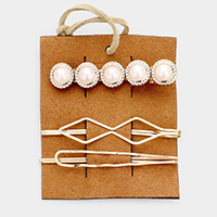 3PCS - Pearl Snap Alligator Clip / Bobby Pins