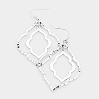 Moroccan Shaped Dangle Metal Earrings