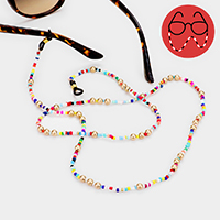 Colorful Multiple Bead Glasses Chain
