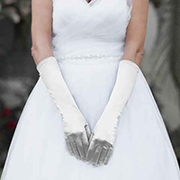 Medium Satin Wedding Gloves