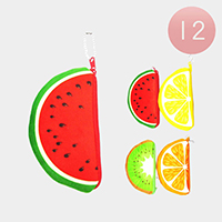 12PCS - Fruit Coin Purses Key Chains