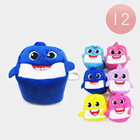 12PCS - Baby Shark Coin Purses Key Chains