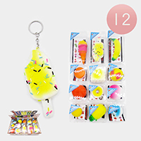 12PCS - Quality Squishy Food Key Chains