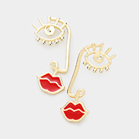 Abstract Face Line Earrings