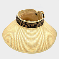 Greek Pattern Ribbon Trim Paper Visor Hat