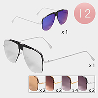 12PCS - Aviator Sunglasses