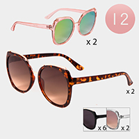 12PCS - Cat Eye Sunglasses
