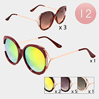12PCS - Embellished Sunglasses