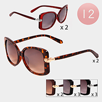 12PCS - Large Pentagon Shaped Sunglass