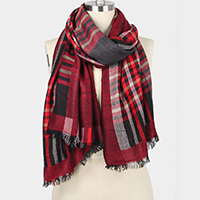 PLAID DOUBLE SIDE SCARF