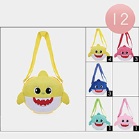 12PCS - Baby Shark Crossbody Bags