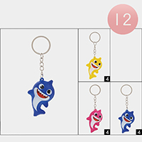 12PCS - Baby Shark Squishy Key Chains