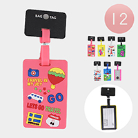 12PCS - Cute Travel Luggage Tags