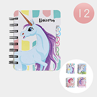 12PCS - Unicorn Note Books