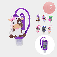 12Pcs - Hand Sanitizer With Colorful Silicone Animal Holders