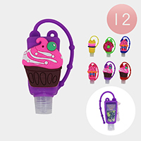 12Pcs - Hand Sanitizer With Colorful Silicone Cupcake Holders