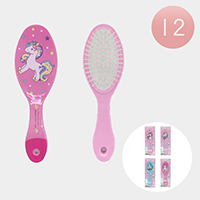 12PCS - Unicorn Hair Brushes