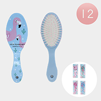 12PCS - Nice Flamingo Hair Brushes