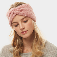 Solid Sherpa Fleece Earmuff Headband